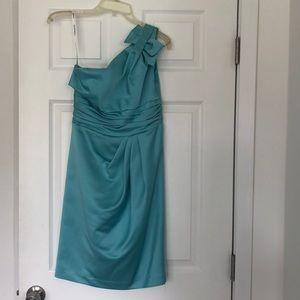 David's Briadal one shoulder dress